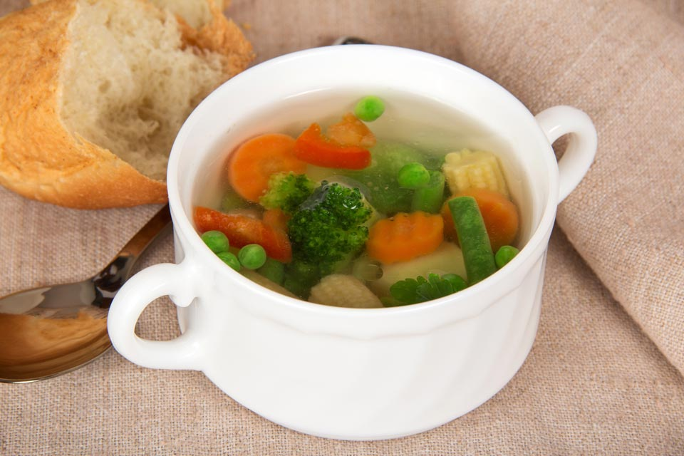 Vegetable soup recipe made with astragalus.